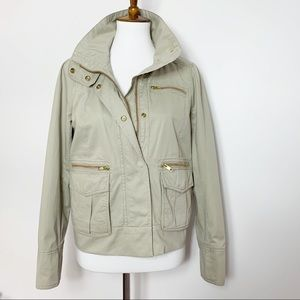 J. Crew Foxtrot Utility Jacket in Khaki, used for sale